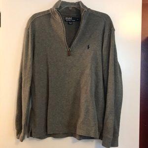 Men's polo quarter zip sweatshirt